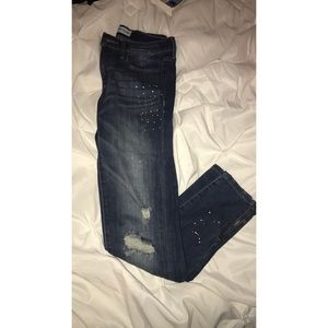 Banana Republic Distressed Skinny Jeans